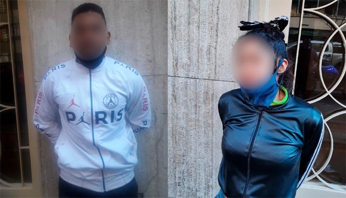 Detuvieron a una pareja de delincuentes tras cometer varios robos en Caballito